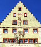 Αρχαία ιστορική μεσαιωνική παλαιά πόλη Wangen Στοκ Εικόνες