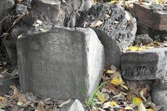 Αρχαία καταστροφή, κορινθιακή στήλη Στοκ Εικόνα
