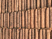 Αρχαία κεραμίδια στεγών για το υπόβαθρο Στοκ Εικόνα