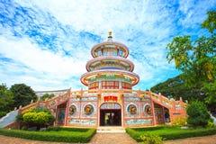 Αρχαία κινεζική αρχιτεκτονική μπλε ουρανού: κήπος Στοκ φωτογραφία με δικαίωμα ελεύθερης χρήσης
