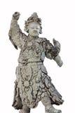 Αρχαία κινεζική κούκλα γλυπτών πετρών, που απομονώνεται στο λευκό Στοκ Εικόνες