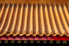 Αρχαία κινεζική στέγη ναών Στοκ Εικόνες