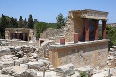 Αρχαία Κνωσός στο νησί της Κρήτης, Ελλάδα Στοκ εικόνα με δικαίωμα ελεύθερης χρήσης