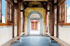 Αρχαία κτήρια του ύφους Huizhou, Κίνα Στοκ φωτογραφία με δικαίωμα ελεύθερης χρήσης