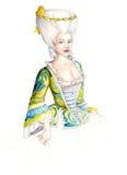 αρχαία κυρία φορεμάτων 02 Στοκ εικόνες με δικαίωμα ελεύθερης χρήσης