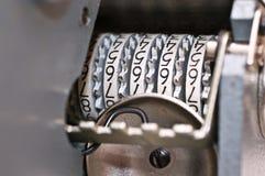 αρχαία λεπτομέρεια arithmometer μηχ&a Στοκ εικόνα με δικαίωμα ελεύθερης χρήσης