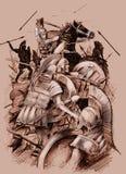 αρχαία μάχη Στοκ Φωτογραφίες