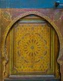 Αρχαία μαροκινή πόρτα Στοκ εικόνα με δικαίωμα ελεύθερης χρήσης
