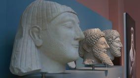 Αρχαία μεσοποτάμια αγάλματα απόθεμα βίντεο