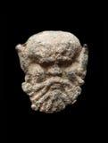 Αρχαία μετα σφραγίδα με μορφή του κεφαλιού Στοκ φωτογραφία με δικαίωμα ελεύθερης χρήσης