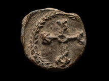 Αρχαία μετα σφραγίδα με το μονόγραμμα σε το Στοκ εικόνες με δικαίωμα ελεύθερης χρήσης