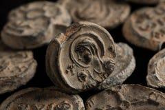 Αρχαία μετα σφραγίδα με το πορτρέτο Αγίου Στοκ Εικόνες