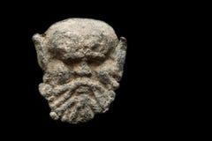 Αρχαία μετα σφραγίδα φιαγμένη από μόλυβδο με μορφή του κεφαλιού Στοκ εικόνα με δικαίωμα ελεύθερης χρήσης