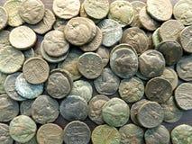 αρχαία νομίσματα Στοκ φωτογραφίες με δικαίωμα ελεύθερης χρήσης