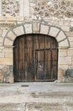 Αρχαία ξύλινη πόρτα Στοκ Φωτογραφίες