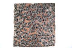 Αρχαίο ξύλινο γραμματόσημο σχεδίων υφάσματος στοκ φωτογραφίες με δικαίωμα ελεύθερης χρήσης
