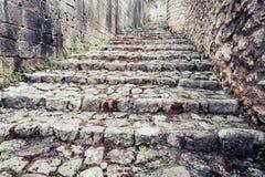 Αρχαία οδός κυβόλινθων Στοκ εικόνα με δικαίωμα ελεύθερης χρήσης
