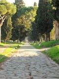 Αρχαία οδός Appia Antica στη Ρώμη Ιταλία Στοκ Εικόνα