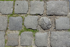 αρχαία οδική πέτρα Στοκ φωτογραφία με δικαίωμα ελεύθερης χρήσης