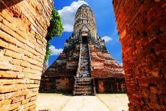 Αρχαία παγόδα σε Ayuttaya, Ταϊλάνδη Στοκ φωτογραφία με δικαίωμα ελεύθερης χρήσης