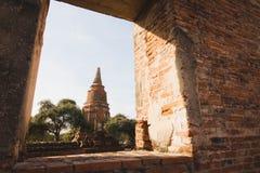 Αρχαία παγόδα σε Ayutthaya, Ταϊλάνδη Στοκ φωτογραφίες με δικαίωμα ελεύθερης χρήσης