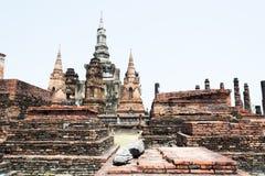 Αρχαία παγόδα στο ιστορικό πάρκο Ταϊλάνδη Sukhothai Στοκ Εικόνες