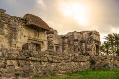 Αρχαία περιοχή της Maya Archeological Tulum Yucatan Μεξικό Στοκ φωτογραφία με δικαίωμα ελεύθερης χρήσης