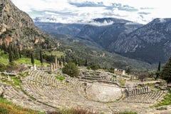Αρχαία περιοχή των Δελφών, Ελλάδα Στοκ Φωτογραφία