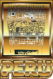 Αρχαία περουβιανή χρυσή απεικόνιση διακοσμήσεων Στοκ φωτογραφίες με δικαίωμα ελεύθερης χρήσης