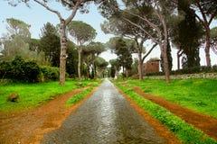 Αρχαία πορεία κυβόλινθων του τρόπου της Ρώμης ` s Appian Στοκ εικόνα με δικαίωμα ελεύθερης χρήσης