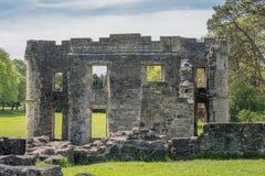 Αρχαία πράσινα δέντρα καταστροφών του irvine Σκωτία Eglinton Castle στοκ φωτογραφία με δικαίωμα ελεύθερης χρήσης
