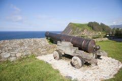 Αρχαία προκυμαία πυροβόλων Στοκ φωτογραφίες με δικαίωμα ελεύθερης χρήσης