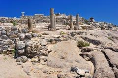 αρχαία πόλη καταστροφών astipalea Στοκ Εικόνες
