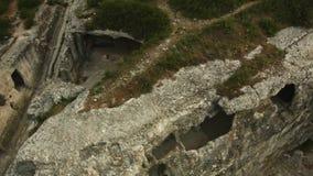 αρχαία πόλη σπηλιών απόθεμα βίντεο