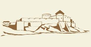 Αρχαία πόλη στο βράχο r απεικόνιση αποθεμάτων