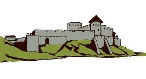 Αρχαία πόλη στο βράχο r ελεύθερη απεικόνιση δικαιώματος