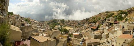 Αρχαία πόλη Caltabellotta στη Σικελία Στοκ Φωτογραφίες