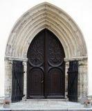 αρχαία πόρτα ξύλινη Στοκ Εικόνα