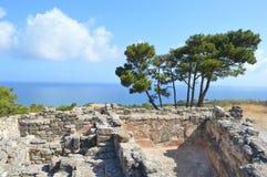 αρχαία πόλη ελληνικά Στοκ φωτογραφία με δικαίωμα ελεύθερης χρήσης