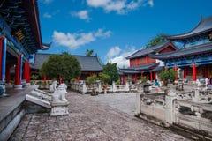 Αρχαία πόλη λι Jiang γιαγιάδων του ξύλινου νοσοκομείου αιθουσών σπιτιών Στοκ Εικόνα