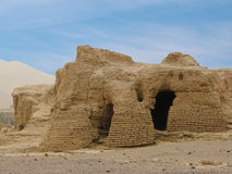 Αρχαία πόλη καταστροφών Jiaohe στην Κίνα Στοκ Φωτογραφία