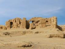 Αρχαία πόλη καταστροφών Jiaohe στην Κίνα Στοκ εικόνες με δικαίωμα ελεύθερης χρήσης