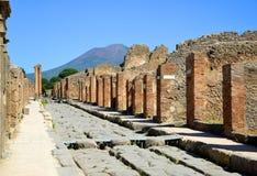 Αρχαία πόλη της Πομπηίας, Ιταλία Στοκ Εικόνες