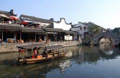 Αρχαία πόλη χωριό-Xitang νερού Στοκ Εικόνες