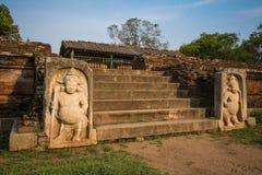 Αρχαία πόλη Anuradhapura, άγαλμα στη Royal Palace, Σρι Λάνκα Στοκ Εικόνα
