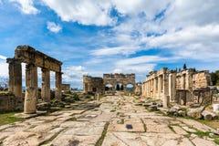 Αρχαία πόλη Hierapolis, Denizli Στοκ Φωτογραφίες