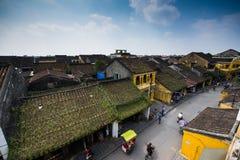 Αρχαία πόλη Hoian από την υψηλή άποψη στο Βιετνάμ Στοκ Φωτογραφίες