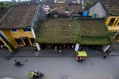 Αρχαία πόλη Hoian από την υψηλή άποψη στο Βιετνάμ Στοκ εικόνα με δικαίωμα ελεύθερης χρήσης
