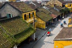 Αρχαία πόλη Hoian από την υψηλή άποψη στο Βιετνάμ Στοκ φωτογραφία με δικαίωμα ελεύθερης χρήσης