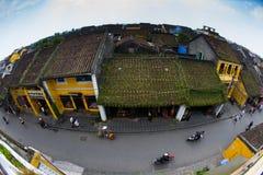 Αρχαία πόλη Hoian από την υψηλή άποψη στο Βιετνάμ Στοκ εικόνες με δικαίωμα ελεύθερης χρήσης